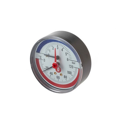 GIACOMINI R226 ΘΕΡΜΟΜΕΤΡΟ ΚΛΙΜΑΚΑΣ 20-120°C 0-4 BAR